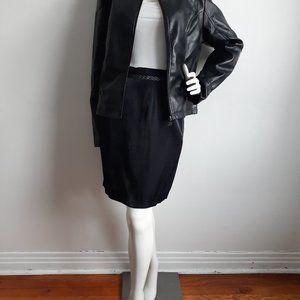 GIORGIO ARMANI Black leather jacket